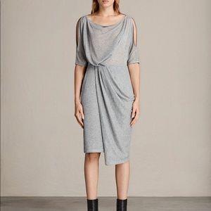 All Saints Sina Shimmer Dress NWT